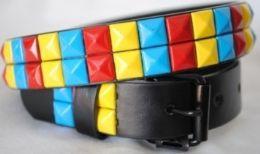 48 of Wholesale Kids Belts Multicolor Studs