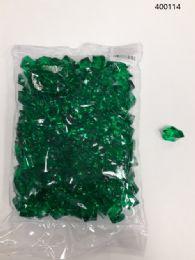 36 of Plastic Decoration Stones In Dark Green