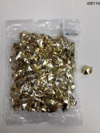 36 of Plastic Decoration Stones In Gold