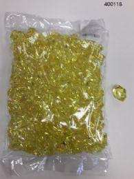 36 of Plastic Decoration Stones In Yellow