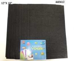 24 of Eva Foam With Glitter 12x18 10 Sheets In Black