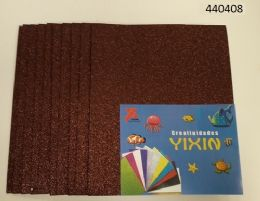 24 of Eva Foam With Glitter 12x18 10 Sheets In Brown