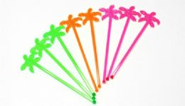 72 of Plastic Stirrer -Palm Tree 8 Piece