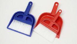 """36 of Mini Dust Pan With Broom Plastic 6 1/4"""""""