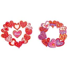 96 of Valentines Day Three D Cutout With Glitter