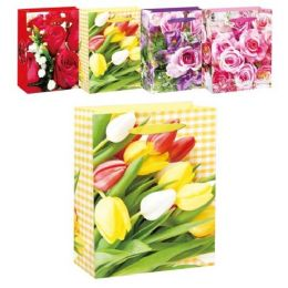 144 of Mothers Day Floral Bag Glitter Medium