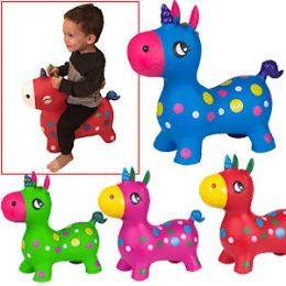 8 of Bouncy Inflatable Unicorns.