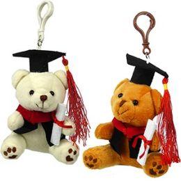 36 of Plush Graduation Teddy Zipper Pull Keychains