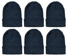 6 of Yacht & Smith Unisex Winter Warm Beanie Hats In Solid Black