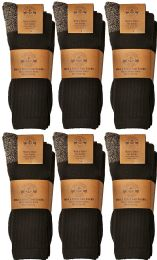 6 of Yacht & Smith Men's Heavy Duty Steel Toe Work Socks, Black, Sock Size 10-13