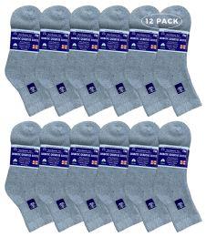 12 of Yacht & Smith Women's Diabetic Cotton Ankle Socks Soft NoN-Binding Comfort Socks Size 9-11 Gray