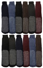 12 of Yacht & Smith Mens Thermal Non Slip Tube Socks, Gripper Bottom Socks