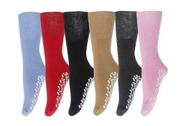 6 of Yacht & Smith Women's Thermal Non-Slip Tube Socks, Gripper Bottom Socks