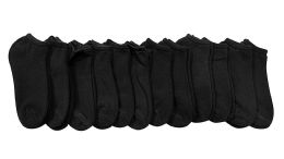 12 of Yacht & Smith Kids Cotton Quarter Ankle Socks In Black Size 6-8