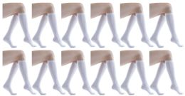 12 of Yacht & Smith Women's White Only Long Knee High Socks, Sock Size 9-11