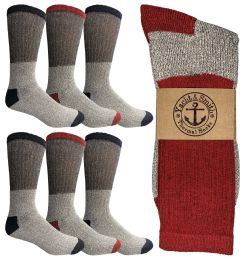 6 of Yacht & Smith Mens Thermal Socks, Warm Cotton, Sock Size 10-13