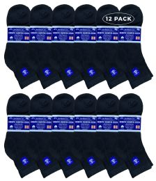 12 of Yacht & Smith Men's Loose Fit NoN-Binding Soft Cotton Diabetic Quarter Ankle Socks,size 10-13 Black