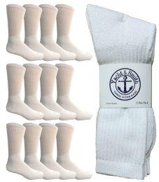 12 of Yacht & Smith Men's King Size Cotton Crew Socks White Size 13-16