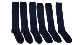 6 of Yacht & Smith Girls Knee High Socks, Solid Colors Navy