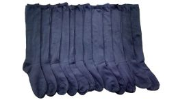 12 of Yacht & Smith Girls Knee High Socks, Solid Colors Navy