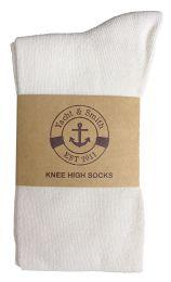6 of Yacht & Smith Women's White Only Long Knee High Socks, Sock Size 9-11