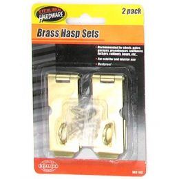 72 of 2 Pack Brass Hasp Set With Screws