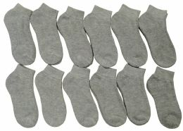 12 of Yacht & Smith Kids Cotton Quarter Ankle Socks In Gray Size 4-6