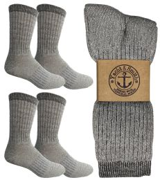 4 of Yacht & Smith Mens Terry Lined Merino Wool Thermal Boot Socks