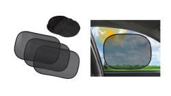 18 of Auto Car Sun Shades 3 Piece Set With Carrying Case Clings To Window