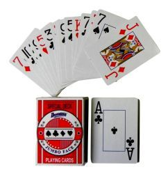48 of Plastic Coated Jumbo Face Playing Cards