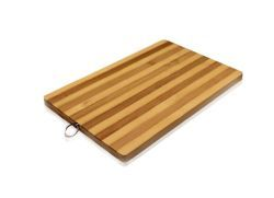 18 of Striped Bamboo Cutting Board All Natural 10.2 X 14.2 Inch EcO-Friendly Strong Thick Chopping Board
