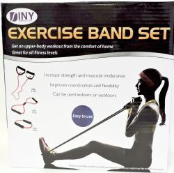 12 of Fitness Exercise Band Set With Storage Bag