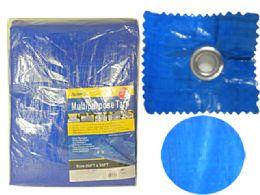 2 of Multipurpose Tarp 20ftx30ft Blue