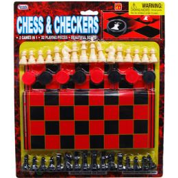 48 of 48 Piece Chess & Checkers