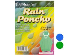 72 of Children's Hooded Rain Poncho