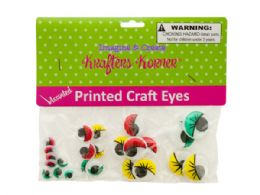 75 of Colored Wiggly Printed Craft Eyes