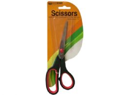 72 of Stainless Steel Scissors With Plastic Handles