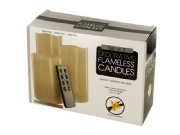 6 of Vanilla Scented Flameless Candles Set With Remote