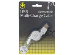 60 of Iphone Retractable Usb MultI-Charge Cable