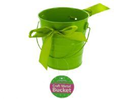 36 of Mini Metal Craft Bucket With Ribbon