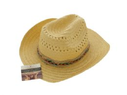 24 of Western Style Woven Fashion Hat