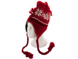 24 of Insulated Winter Design Knit Hat with Fringe