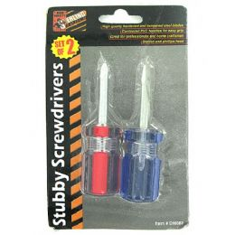 72 of 2 Pack Stubby Screwdriver Set