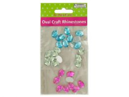 120 of Faceted Oval Craft Rhinestones