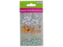 60 of Faceted Round Craft Rhinestones