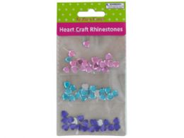 60 of Faceted Heart Craft Rhinestones