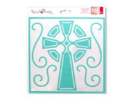 72 of Celtic Cross Stencil Mask
