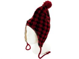 24 of Insulated Houndstooth Wool Blend Knit Hat