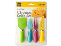 12 of Easy Grip MultI-Colored Cheese Knife Set