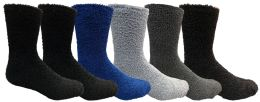 6 of Yacht & Smith Men's Warm Cozy Fuzzy Socks, Size 10-13